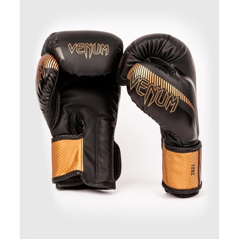 Guantes De Boxeo Venum Impact Negro/Bronce