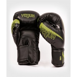 Guantes De Kick Boxing Venum Impact Negro/Verde Fluo