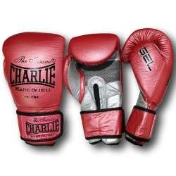 Guantes boxeo Charlie metallic rojo