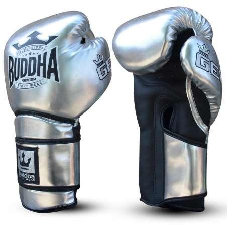 Guantes muay thai Buddha pro gel (plata)