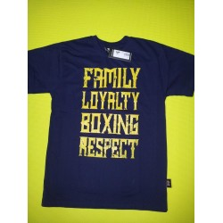 Camiseta Shark family  azul