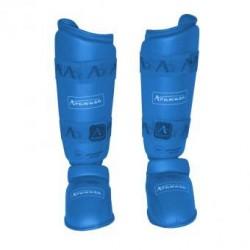 Espinillera Arawaza karate azul
