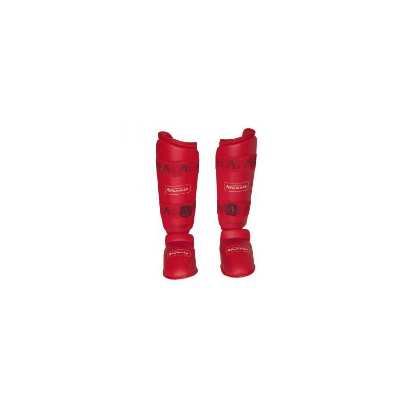 Espinillera Arawaza karate roja