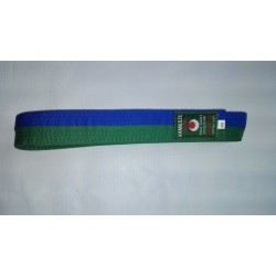 Cinturon artes marciales verde/azul Kamikaze