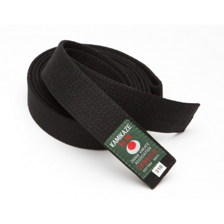 Cinturon artes marciales negro Kamikaze