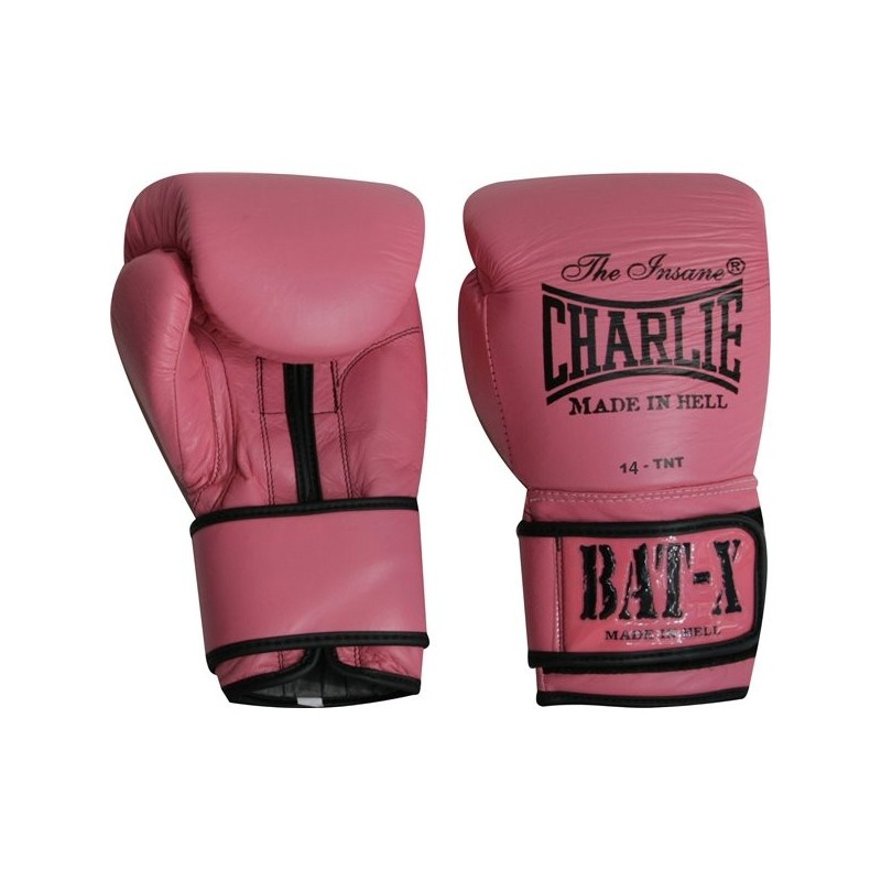 Guantes Boxeo Charlie Bat-X Rosa