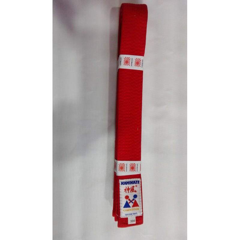 Cinturon artes marciales Rojo Kamikaze