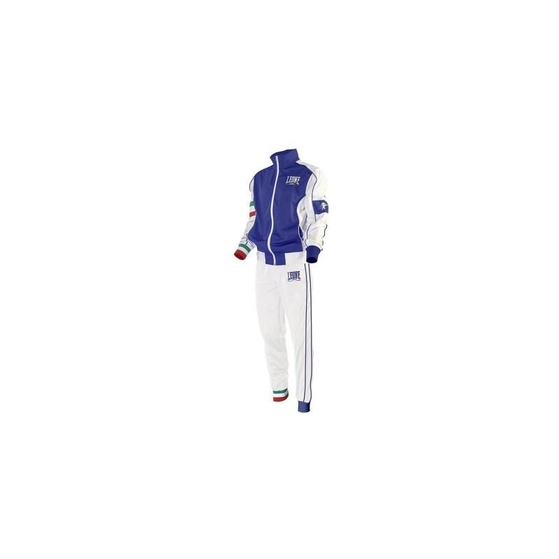 Chandal Leone AB796 azul blanco