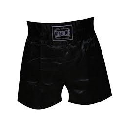 Pantalones de boxeo Charlie liso negro