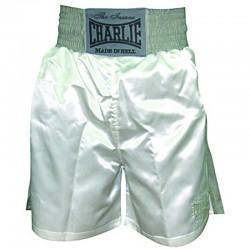 Pantalones de boxeo Charlie liso blanco