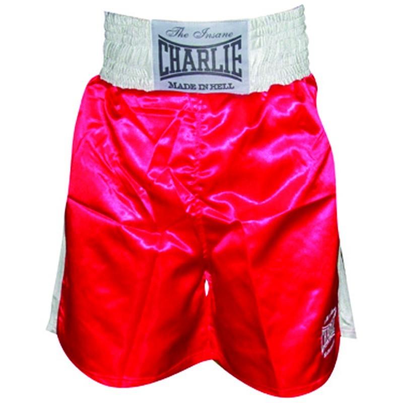 Pantalones de boxeo Charlie liso rojo