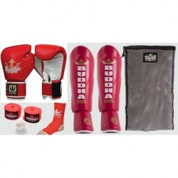 Pack de boxeo Buddha Deluxe rojo