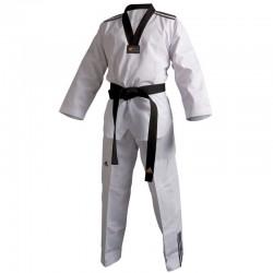 Dobok de taekwondo Adidas Adi-Club II ( rayas negras)