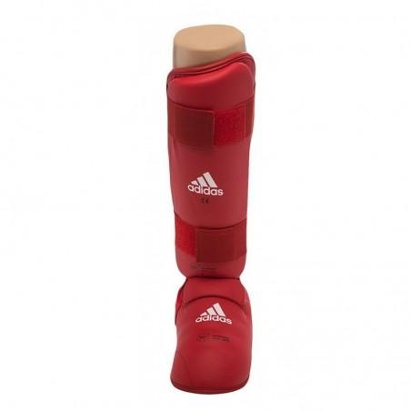 Espinilleras  karate Adidas roja 661.35 homologada