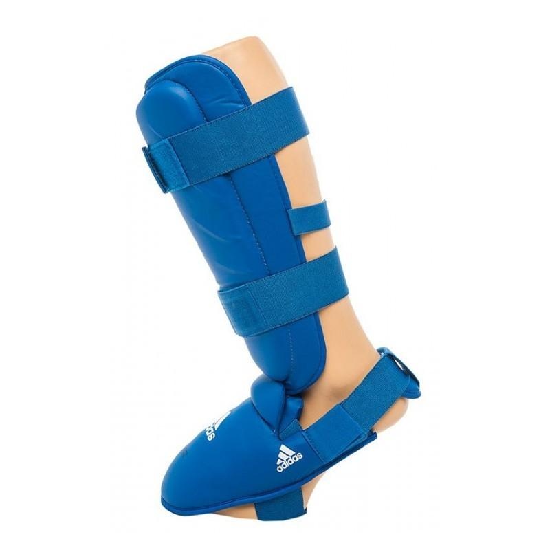 Espinilleras  karate Adidas azul 661.35 homologada