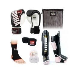 Pack de boxeo Buddha Millenium Negro/Blanco