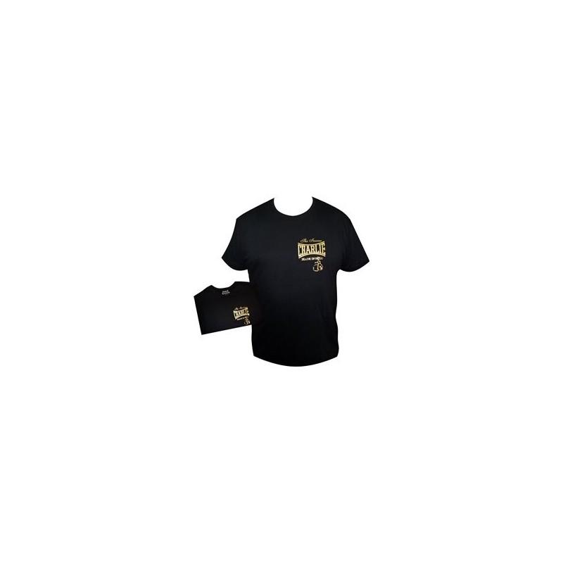 Camiseta femenina Charlie  Gold negra