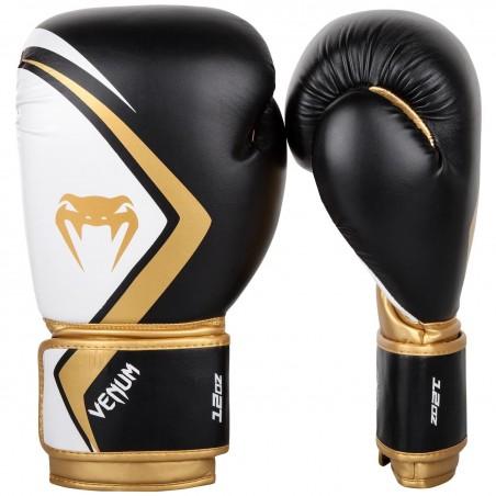 Guantes boxeo Venum Contender 2.0 Negro/Blanco/Oro
