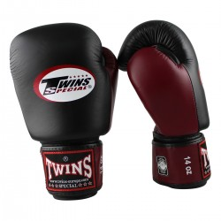 Guantes de boxeo Twins Bgvl black red wine